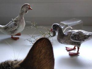 Кошки и птицы.. Ярмарка Мастеров - ручная работа, handmade.