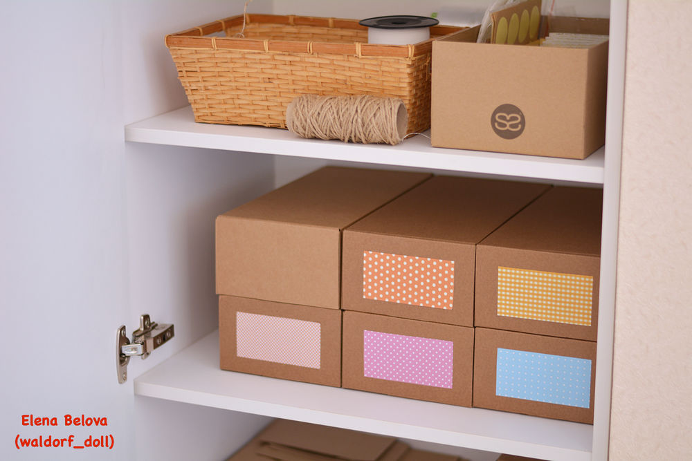 needlework, organization of storage