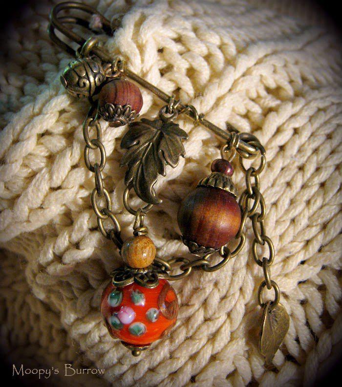 орешки, брошь, рыжий, фурнитура, лист, сувенир, коллекционное украшение
