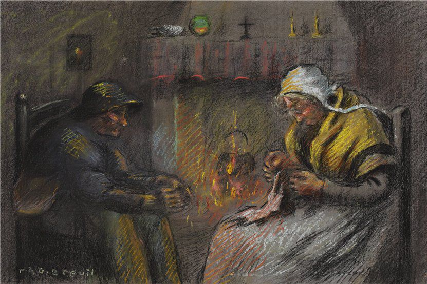 Когда есть чем заняться — стареть некогда: душевные картины о бабушках-рукодельницах, фото № 65