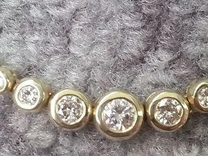 Аукцион!!!! Спешите!!! Шикарное золотое колье с бриллиантами 1.45 карат!!!!. Ярмарка Мастеров - ручная работа, handmade.