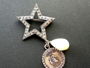 Видео. Брошь Звезда Парижа, Lanvin, Франция. Ярмарка Мастеров - ручная работа, handmade.