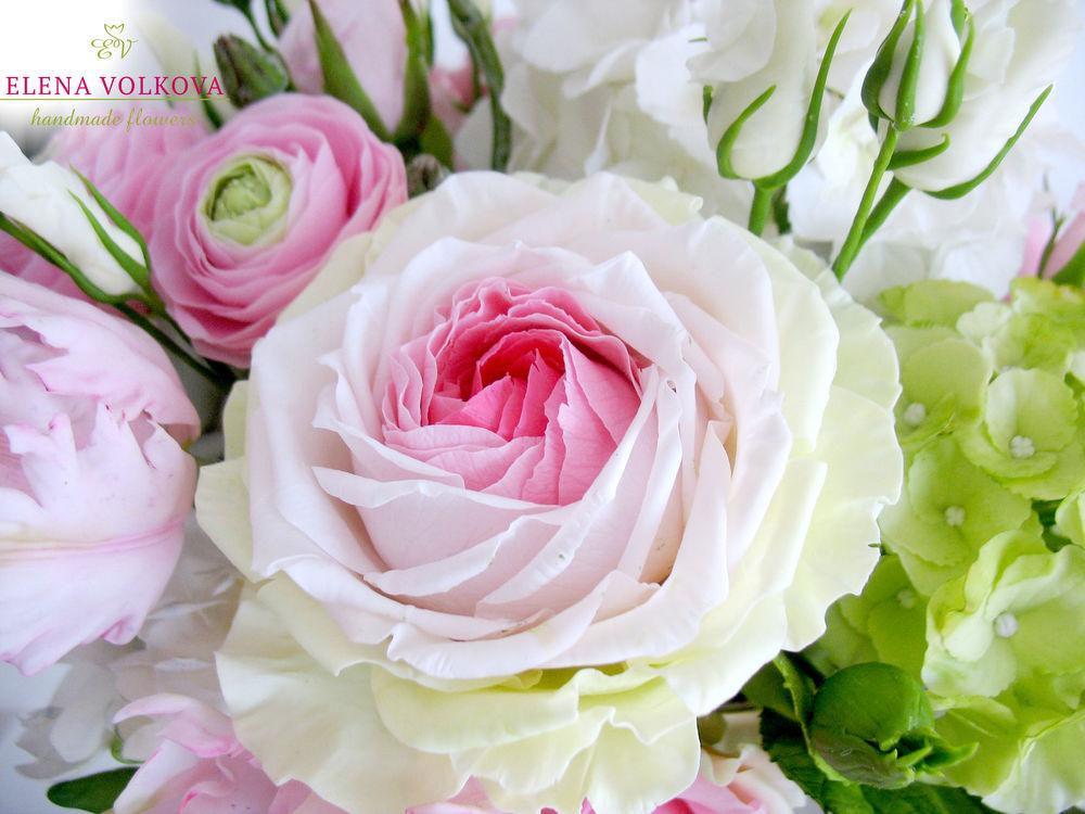 цветы холодный фарфор
