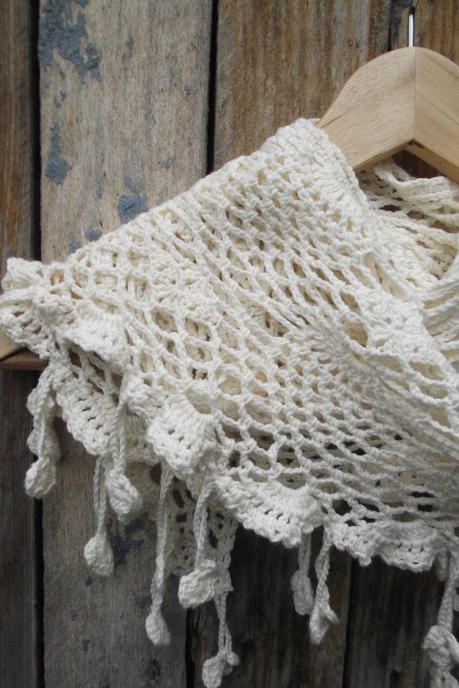 шарфик, новинка магазина, белый цвет