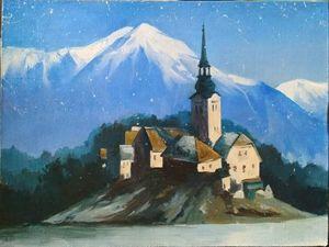 Пишем маслом на холсте картину «Зима». Ярмарка Мастеров - ручная работа, handmade.