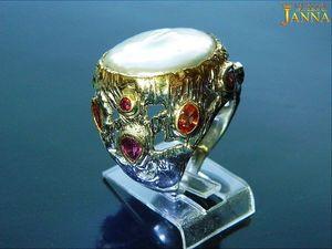 """Жемчуг. """"Улыбка Нимфы"""" кольцо с крупной жемчужиной 114.28 карат. Ярмарка Мастеров - ручная работа, handmade."""