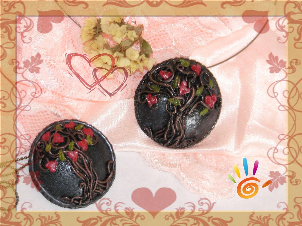полимерная глина, день святого валентина, мастер-класс, идеи для вдохновения, кулон, любимое дело