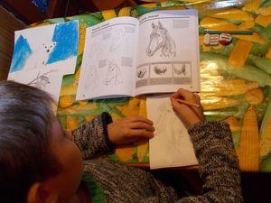 Паша и Петя учатся рисовать.. Ярмарка Мастеров - ручная работа, handmade.