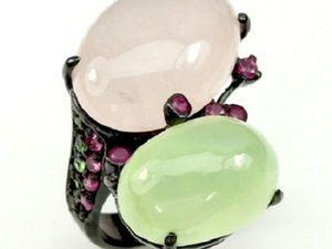 Скидка 25% на изделия с розовым кварцем, сапфирином и пренитом!. Ярмарка Мастеров - ручная работа, handmade.