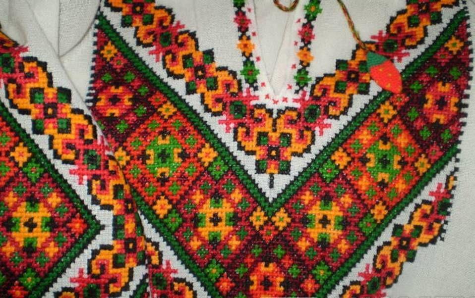 вышивка крестом, льняное полотно