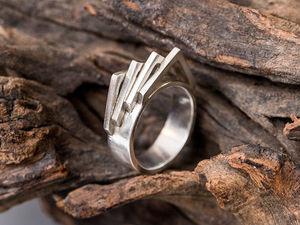Серебряное кольцо в стиле Лофт. Ярмарка Мастеров - ручная работа, handmade.