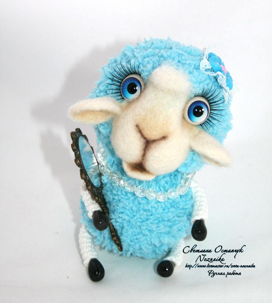 овечка вязаная