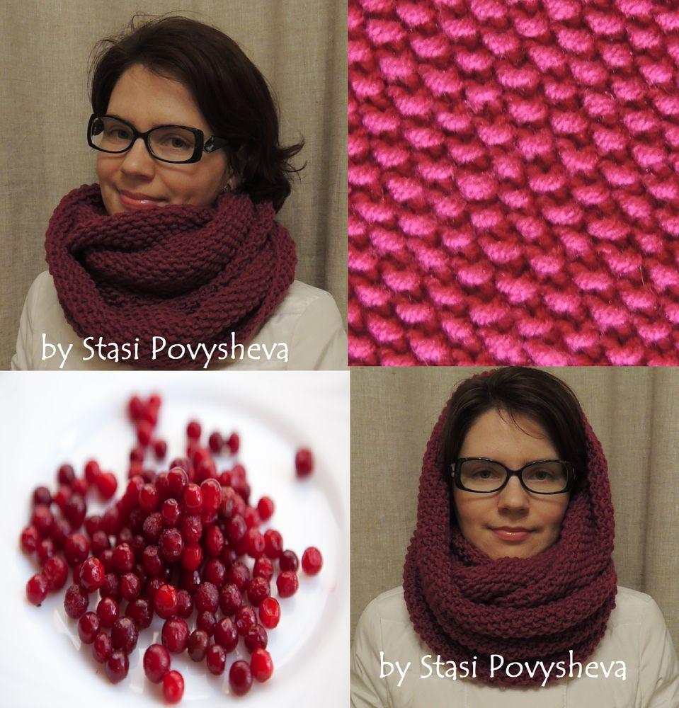 шарф, заколка, шарф вязаный, единственный