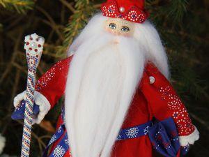 Делаем нарядный посох для куклы Дедушки Мороза. Ярмарка Мастеров - ручная работа, handmade.