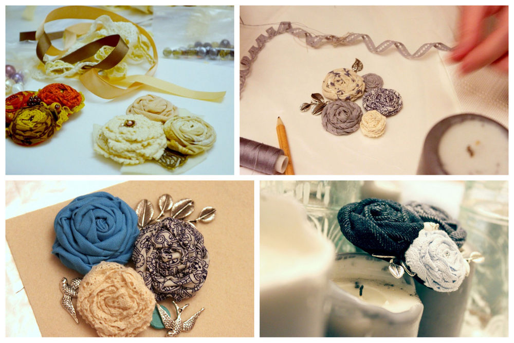 украшения ручной работы, украшение из роз, бохо украшения, колье ручной работы, зимний пейзаж, подарок на новый год