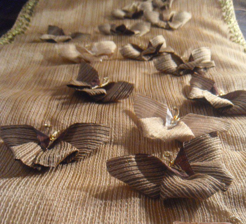 текстиль для дома, наволочка, украшение бабочка
