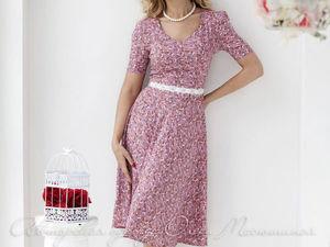 Аукцион на летнее лёгкое платье в ретро-стиле! Старт 1500 р. !. Ярмарка Мастеров - ручная работа, handmade.