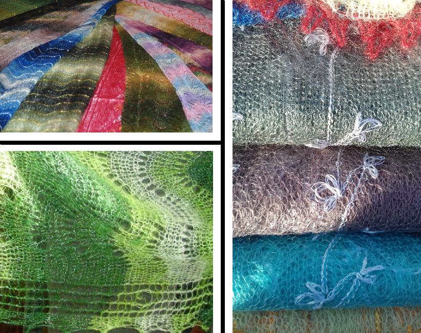 пуховый платок, пуховая шаль
