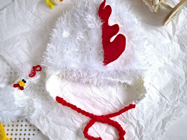 Вяжем забавную шапочку «Петушок» для фотосессии | Ярмарка Мастеров - ручная работа, handmade
