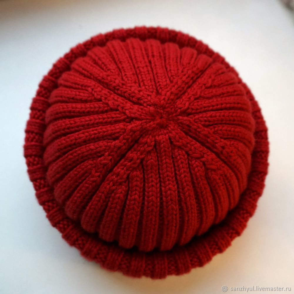 вяжем шапку резинку с небанальной макушкой часть 1 мастер класс