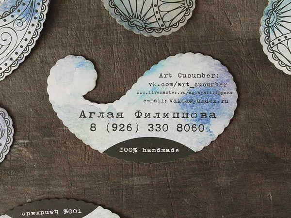 Новые необычные визитки   Ярмарка Мастеров - ручная работа, handmade