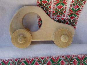 Делаем экологически чистую игрушку-машинку из дерева. Ярмарка Мастеров - ручная работа, handmade.