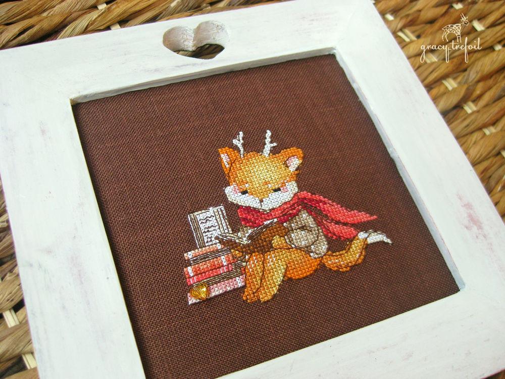 вышивка крестом лисы