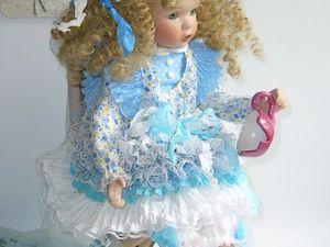 Разбилась чашка! Коллекционная фарфоровая кукла.   Ярмарка Мастеров - ручная работа, handmade