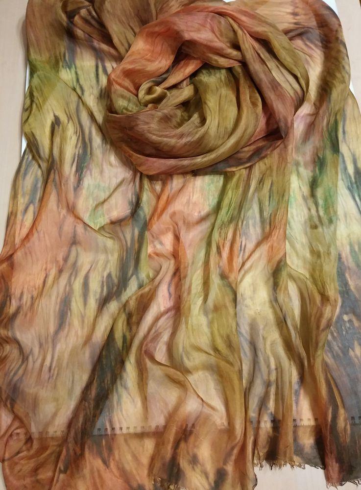 торги, купить шелковый шарф