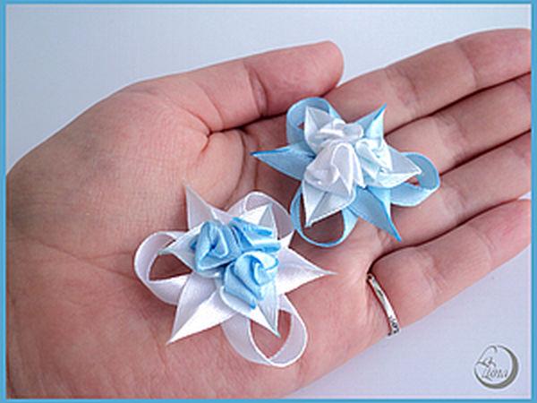 Tiny Roses of Satin Ribbons | Livemaster - handmade