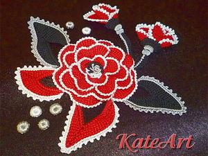Розы - тунисское вязание.. Ярмарка Мастеров - ручная работа, handmade.