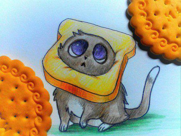 Как нарисовать цветными карандашами озорного котёнка | Ярмарка Мастеров - ручная работа, handmade