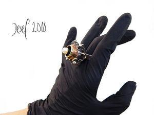 Кольцо  «Цветок Киндзадза». Ярмарка Мастеров - ручная работа, handmade.