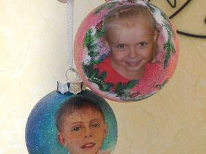 Делаем своими руками персональный подарок: елочный шар с фотографией. Ярмарка Мастеров - ручная работа, handmade.