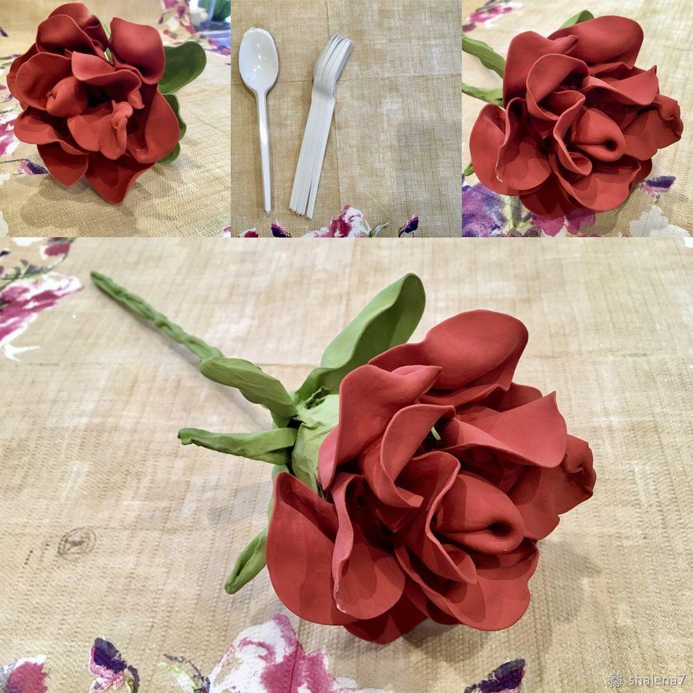 роза из пластика, как сделать розу, поделки из пластика, цветы из пластика, декор
