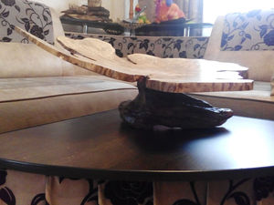 Сделал новое блюдо на ножке из массива граба и дуба - жду критики   Ярмарка Мастеров - ручная работа, handmade
