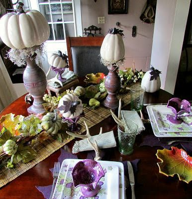 Rustic & Refined: Purple Birthday Table