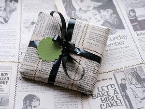 Упаковка из газет и других подручных материалов. Ярмарка Мастеров - ручная работа, handmade.
