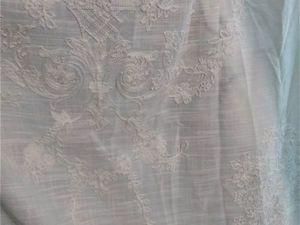 Тюль в стиле шебби шик под лен с нежнейшими цветами в тон. Ярмарка Мастеров - ручная работа, handmade.