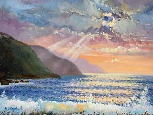10% скидка на авторский морской пейзаж!. Ярмарка Мастеров - ручная работа, handmade.
