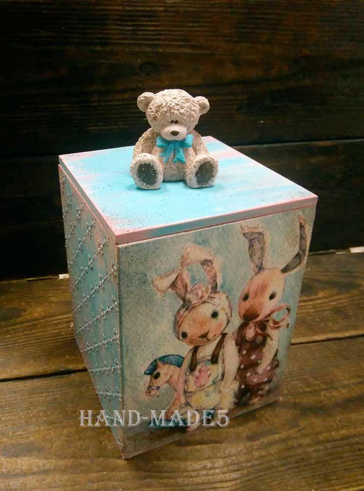 Короб для сладостей с объемной расписной ручкой, фото № 9