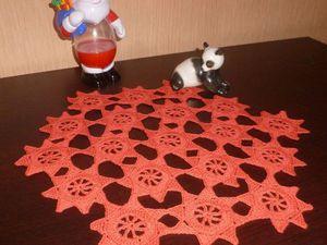 Вяжем новогоднюю салфетку безотрывным способом. Ярмарка Мастеров - ручная работа, handmade.