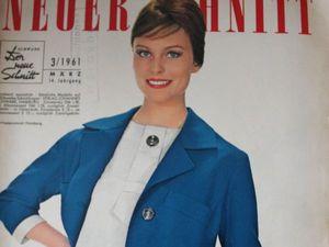 Neuer Schnitt — старый немецкий журнал мод 3/1961. Ярмарка Мастеров - ручная работа, handmade.