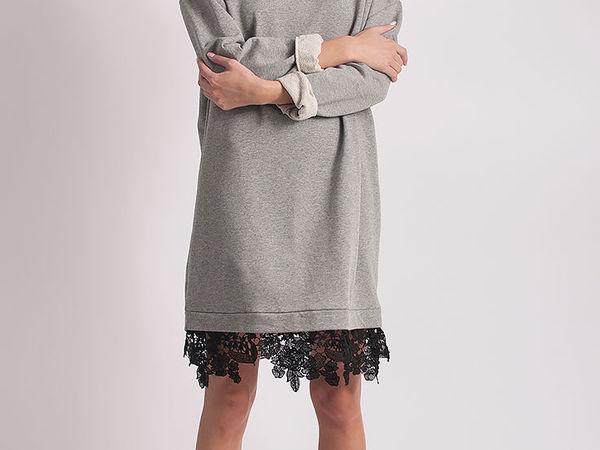 Платье - свитер в бельевом стиле.Стильная деталь гардероба! | Ярмарка Мастеров - ручная работа, handmade