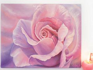Новая картина! Сияние райской розы!. Ярмарка Мастеров - ручная работа, handmade.