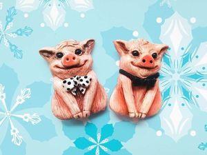 Победители розыгрыша конфетки!  «Свинка-хрю-хрю» . 2 приза- 2 победителя!. Ярмарка Мастеров - ручная работа, handmade.