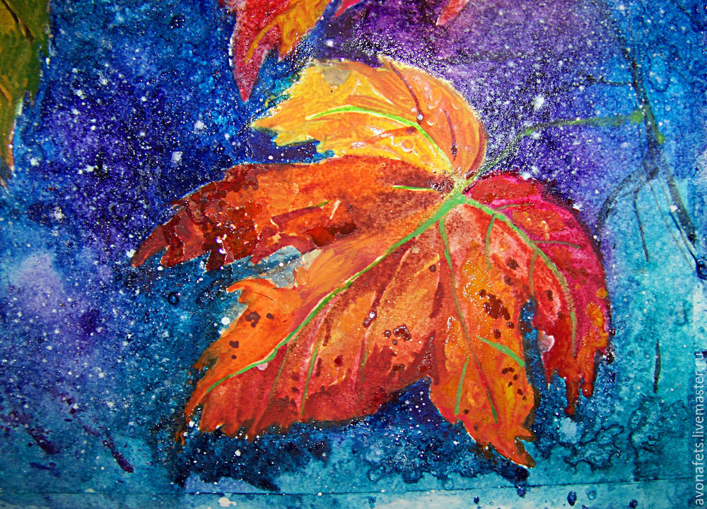 Осенний мастер-класс: акварель по-мокрому, фото № 17
