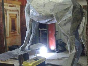Полигональный стальной конь. Ярмарка Мастеров - ручная работа, handmade.