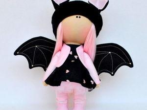 Интерьерная кукла летучая мышь. Ярмарка Мастеров - ручная работа, handmade.