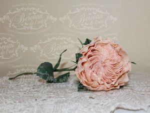 Мастер-класс по созданию Розы Остина (староанглийской розы) из фоамирана. | Ярмарка Мастеров - ручная работа, handmade